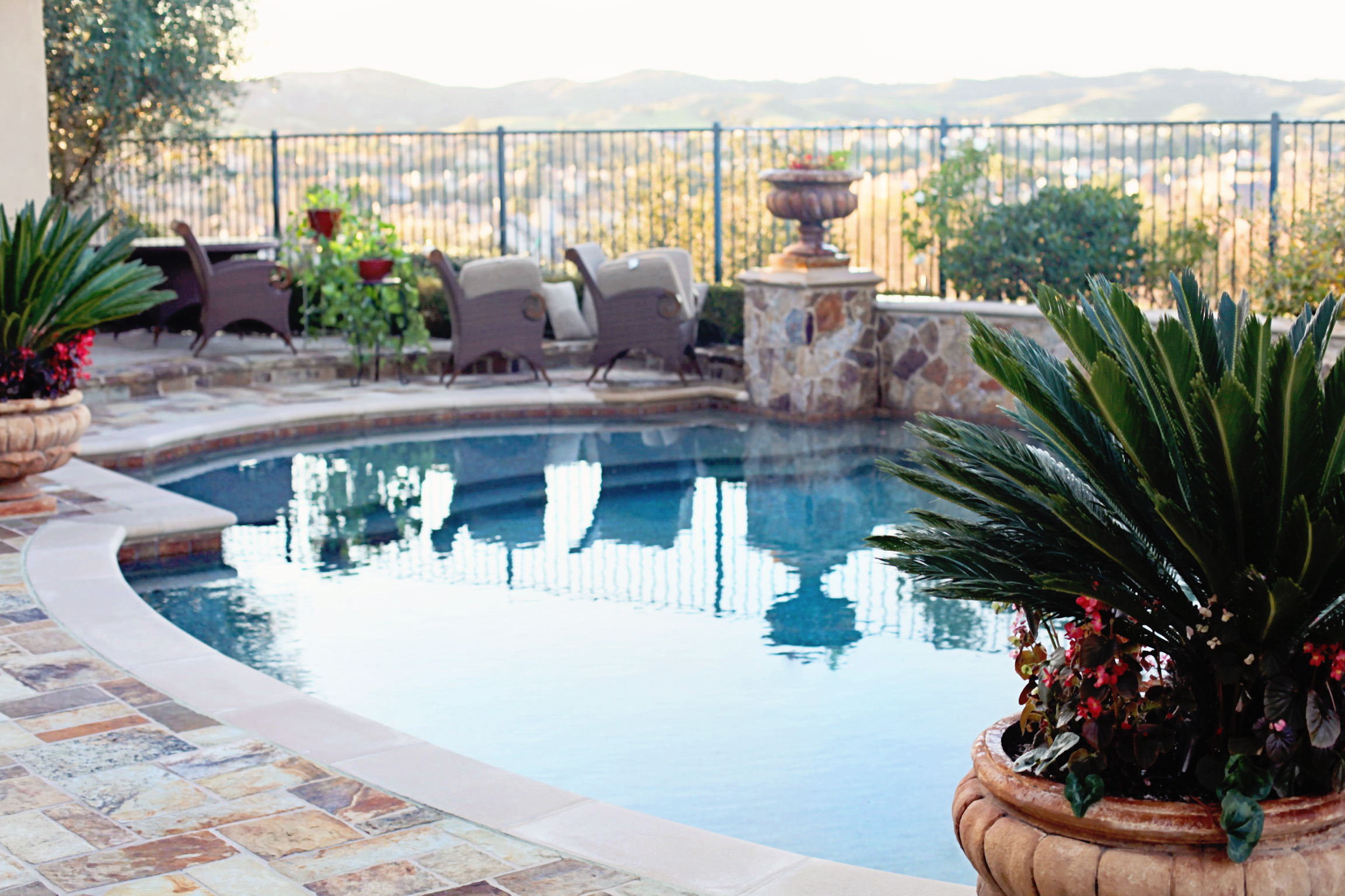 Pool service a gallery of orange county pools for Pool maintenance
